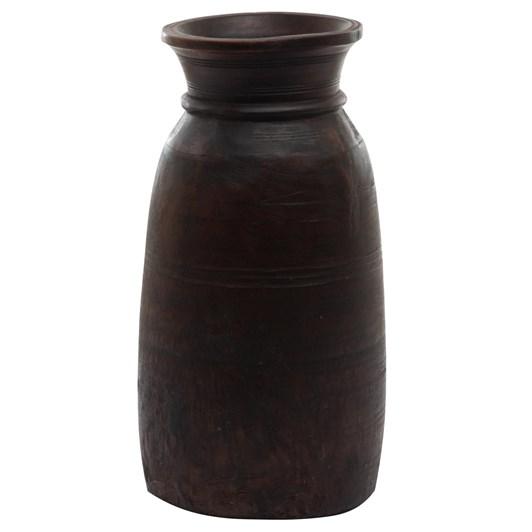 CC Interiors Medium Ancient Nepalese Wooden Pot Dark Finish