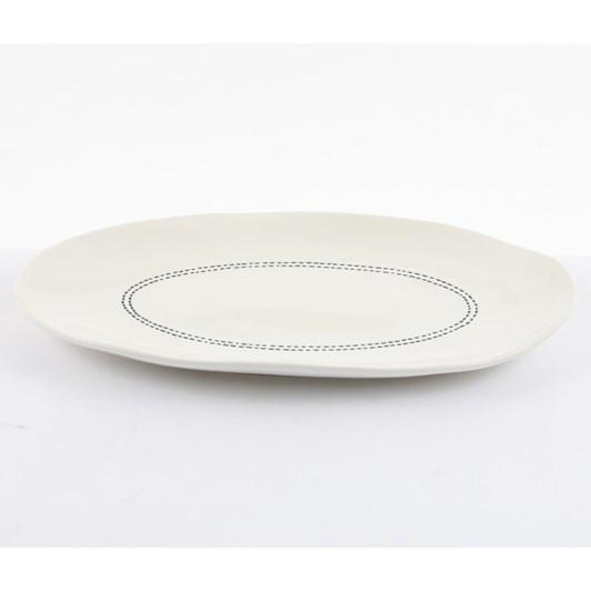 Ivory House Mode Oval Plate 34X21cm