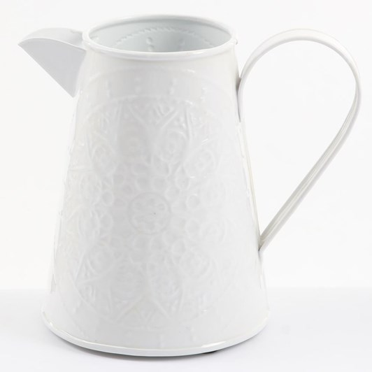 Ivory House Wash Jug 20Cm - White