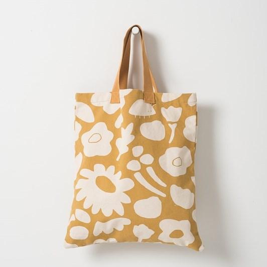 Citta Daisy Chain Beach Bag Mustard & Natura