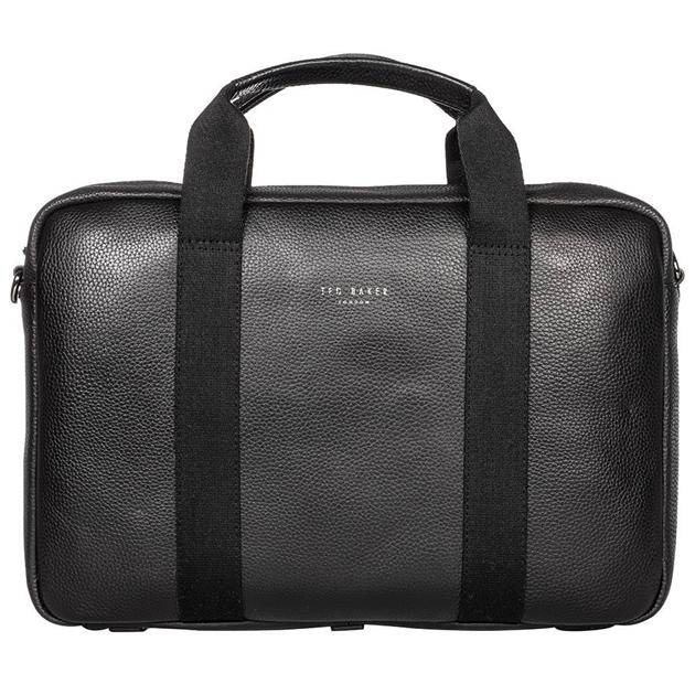 Ted Baker IMPORTA Leather Document Bag - 00 black