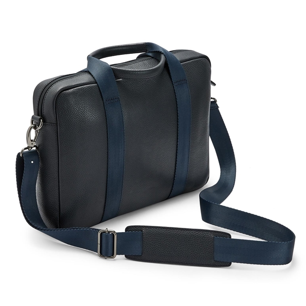 Ted Baker IMPORTA Leather Document Bag - 10 navy