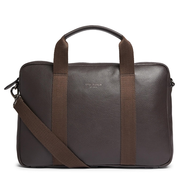 Ted Baker IMPORTA Leather Document Bag - 22 chocolate