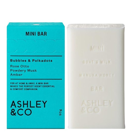 Ashley & Co Mini Bar 90g - Bubbles & Polkadots