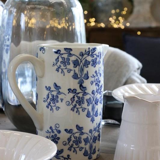 CC Interiors Florentine Bleu Handpainted Jug