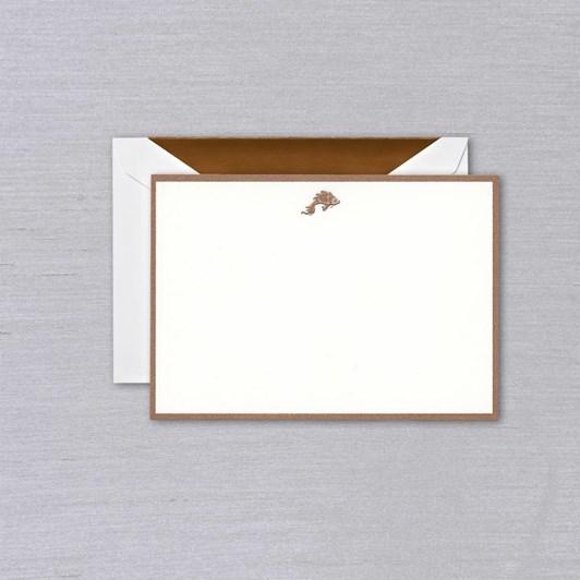 Crane & Co Engraved Koi Bordered Notecards, 10 Cards & Envelopes