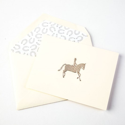 Crane & Co Engraved Equestrian Notecards, 10 Cards & Envelopes