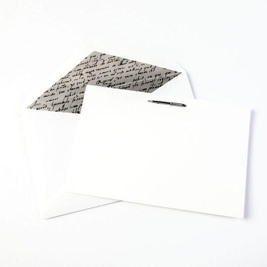 Crane & Co Engraved Fountain Pen Notecards, 10 Cards & Envelopes
