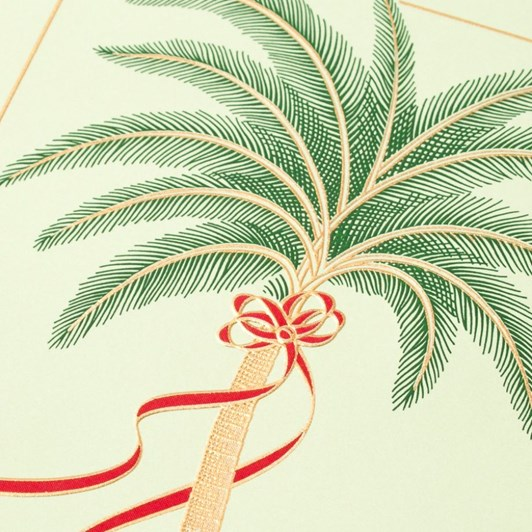 Crane & Co Engraved Palm Tree Notecards, 10 Cards & Envelopes