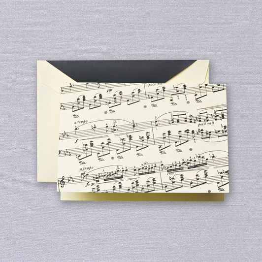 Crane & Co Sheet Music Notecards, 10 Notes & Envelopes