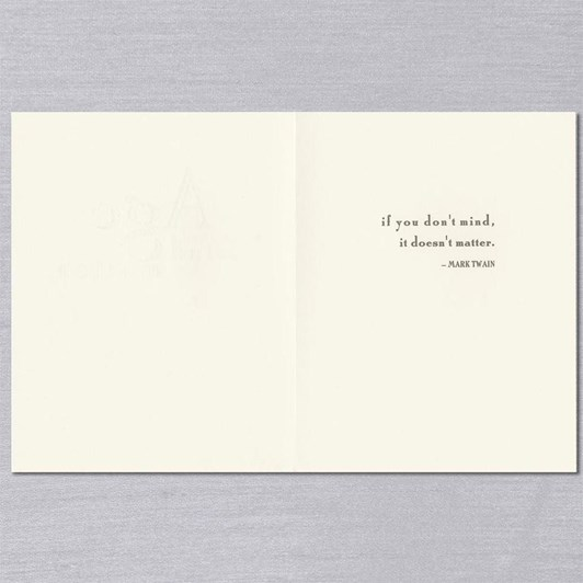 Crane & Co Mind Over Matter, Single Card