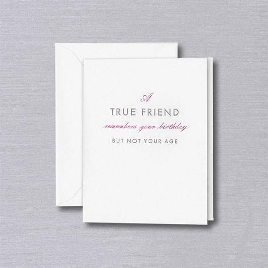 Crane & Co A True Friend, Single Card