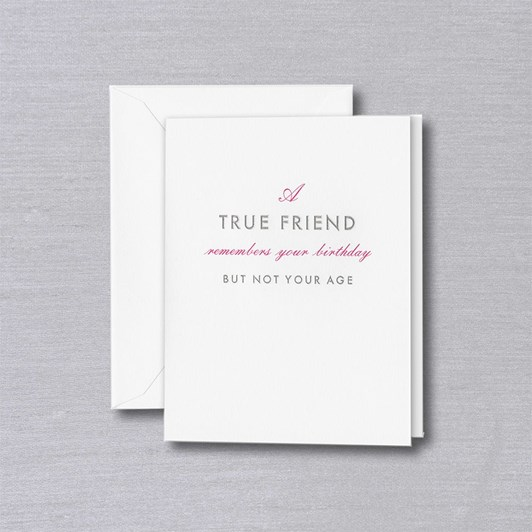 Crane & Co A True Friend, Single Card