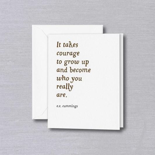 Crane & Co It Takes Courage, Single Card