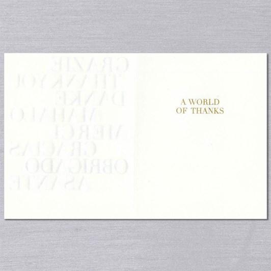 Crane & Co Multi-Lingual Thank You, Single Card