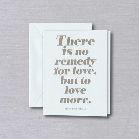 Crane & Co No Remedy For Love, Single Card