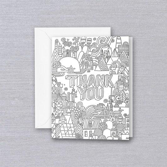 Crane & Co Groovy City, Single Card