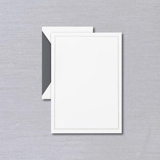 Crane & Co Charcoal Frame, Pearl White Writing Paper & Envelope Set