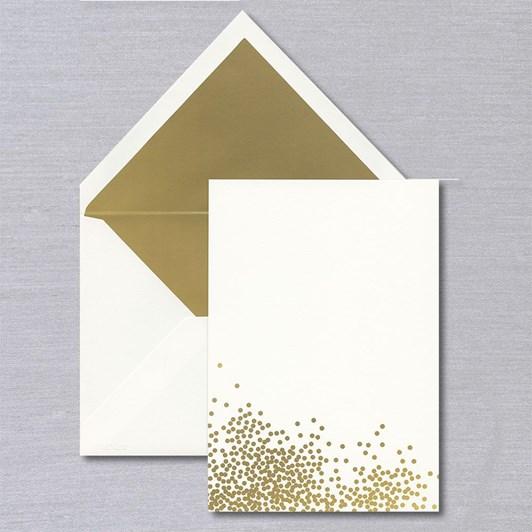 Vera Wang Gold Confetti Cards & Envelopes, 10