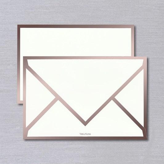 Vera Wang Rose Gold Foil Bordered Cards & Envelopes, 10