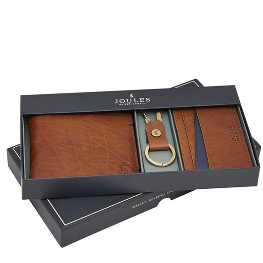 Joules Leather Card Holder And Keyring