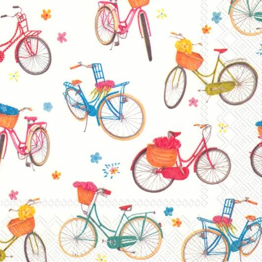 IHR Luncheon Napkin Bicycle