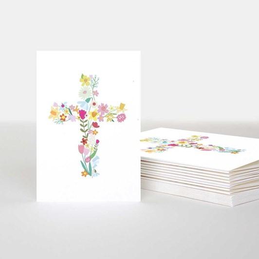 Flower Cross Mini Card
