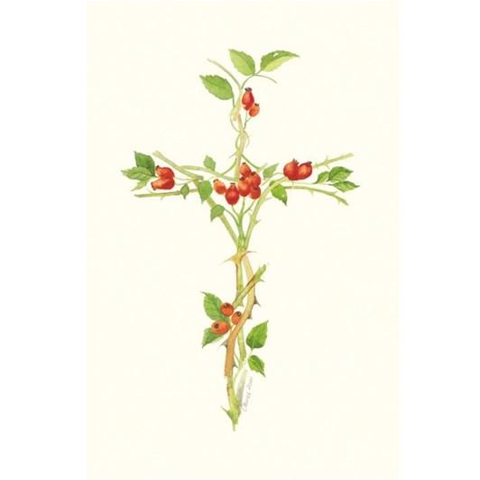 Rosehip Cross Easter Card
