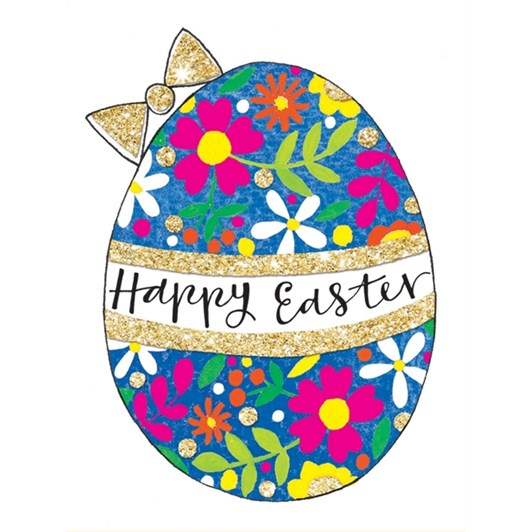 Happy Easter Floral Egg Card