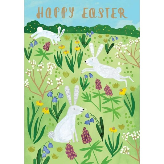 Three Easter Rabbits Card