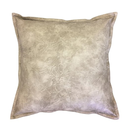 Madras Link Boston Leather Look Cushion Grey 50cm
