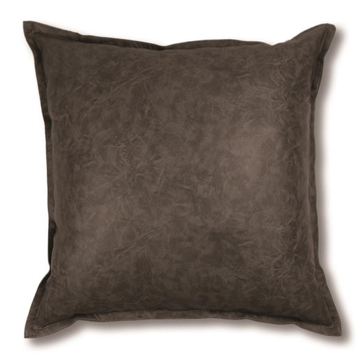 Madras Link Boston Leather Look Cushion Charcoal 50cm