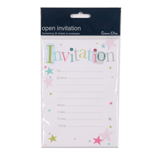 Image Gallery Party Invite: General Stars
