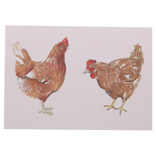 Mills And Plume Pink Orpington Hens Card