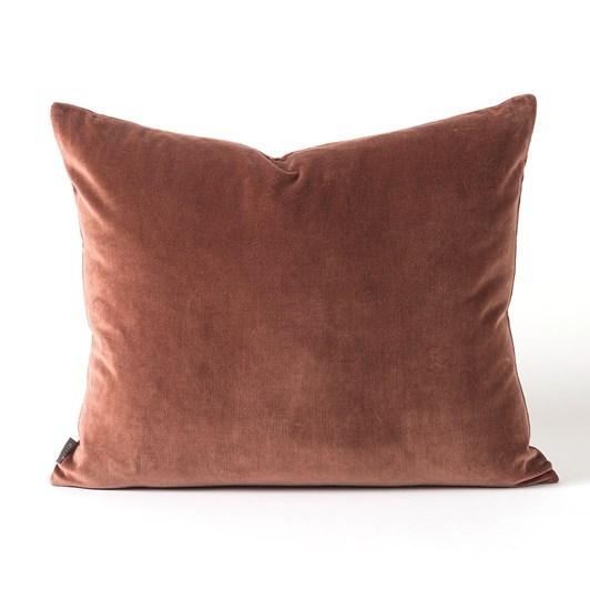 Citta Cotton Velvet Cushion Cover Eggplant 55x45cm