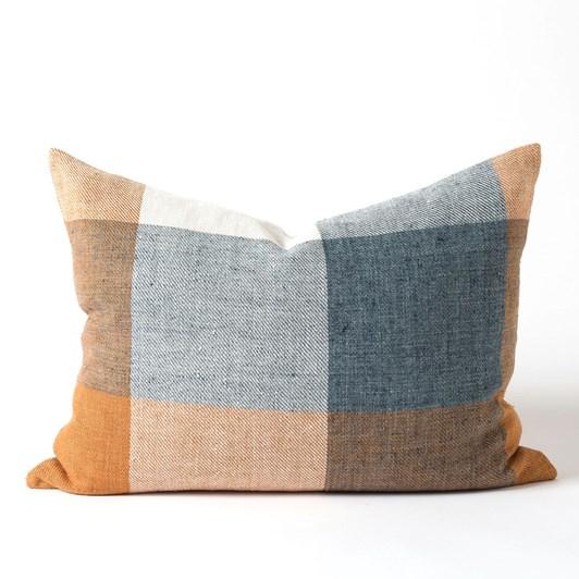 Citta Morrison Woven Cushion Cover Midnight/Turmeric 65x50cm