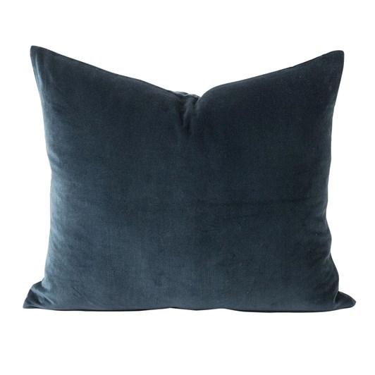 Citta Cotton Velvet Cushion Cover Midnight 55x45cm