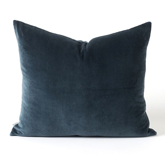 Citta Cotton Velvet Cushion Cover Midnight 55x45cm