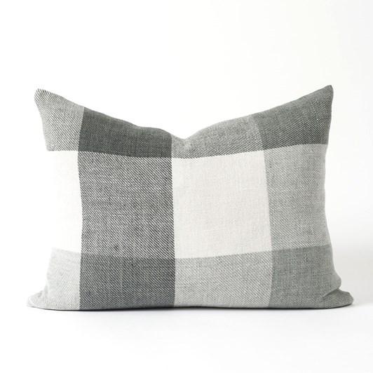 Citta Morrison Woven Cushion Cover Slate/Ivory 65x50cm