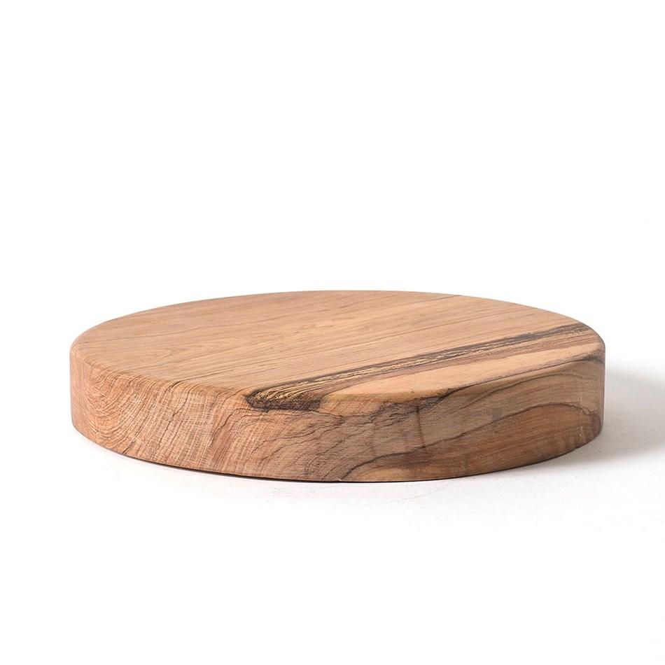 Citta Asili x Citta Round Board Olive Wood S 25cmdia - olive