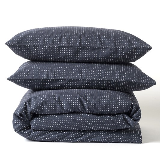 Citta Inku Organic Cotton Linen Duvet Cover Midnight Ks/D180x210cm