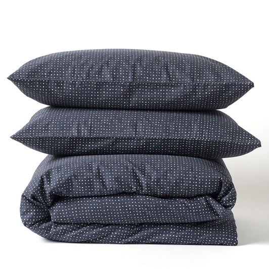 Citta Inku Cotton Linen Duvet Cover Midnight K 245x210cm