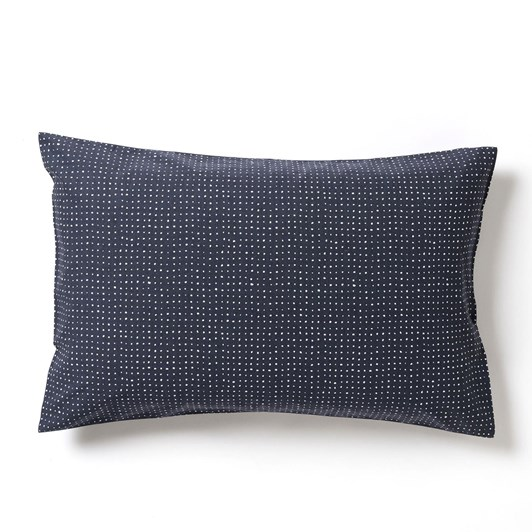 Citta Inku Organic Cotton Linen Pillowcase Pr Midnight 76x50cm