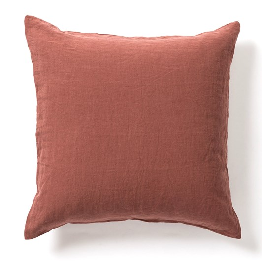Citta Sove Linen Euro Pillowcase Raisin 65x65cm