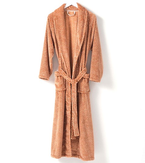 Citta Halo Women's Nap Dressing Gown Toffee L