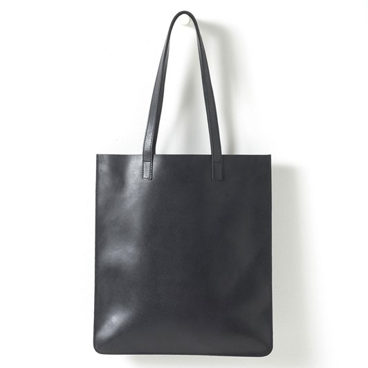 Citta Leather Tote Black 36x40cm