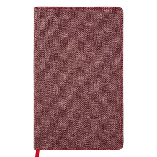 Castelli Diary A5 Weekly + Notes Harris Maple Red