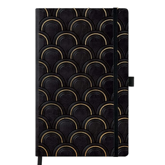 Castelli Diary Pocket Day To Page Copper And Gold Art Deco Gold
