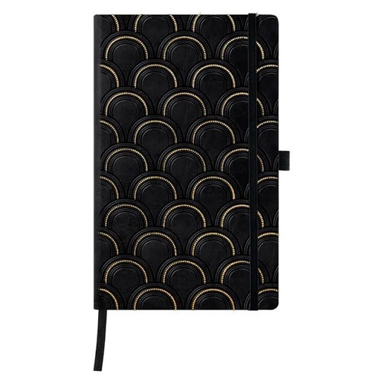 Castelli Diary A5 Weekly + Notes Copper And Gold Art Deco Gold