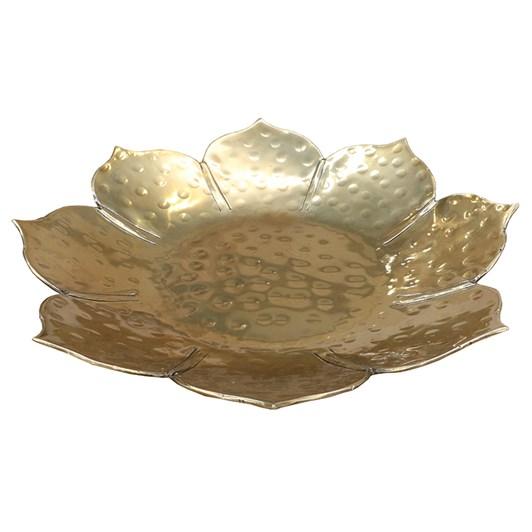 Brass Lotus Plate